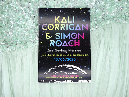 Colourful Space Wedding Set