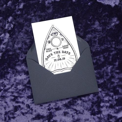 Planchette Ouija Board Save the Date