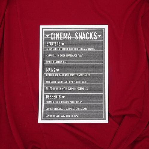 Movie Cinema Menu