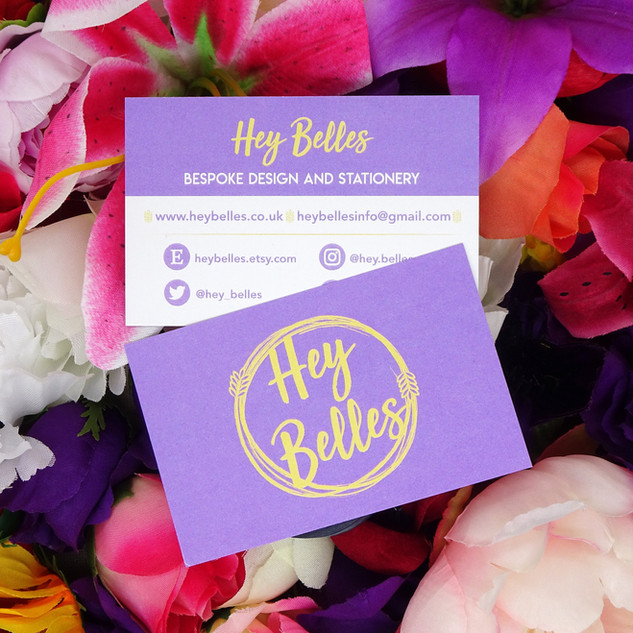 Hey Belles Logo & Business Cards