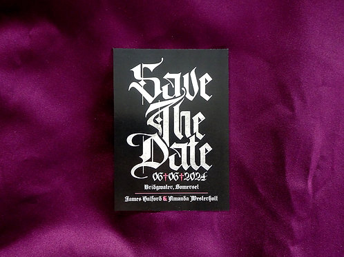 Metal Gothic Save the Date