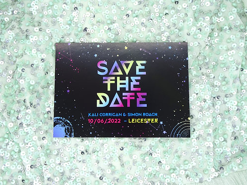 Colourful Space Save the Date