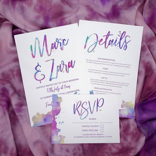 Colour Splash Wedding Set