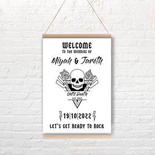 Until Death Welcome Sign