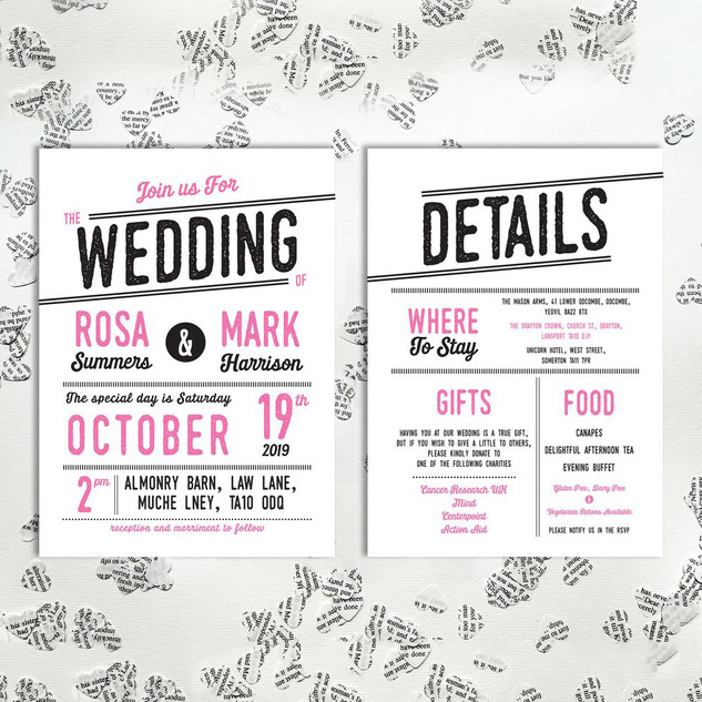 Vintage Typography Invite and details