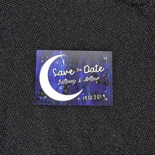 Moon and Stars Save the Date