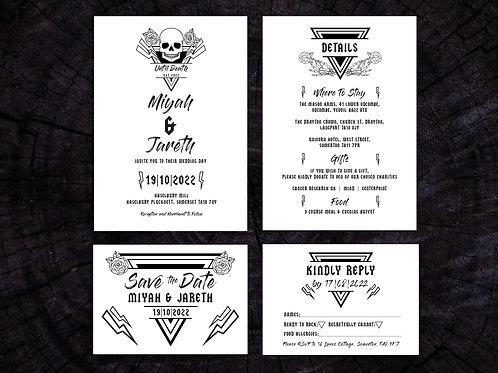 Until Death Wedding Set