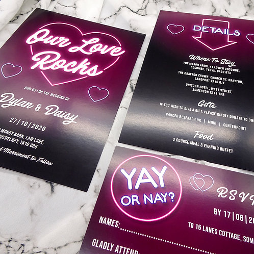 Neon Sign Wedding Set
