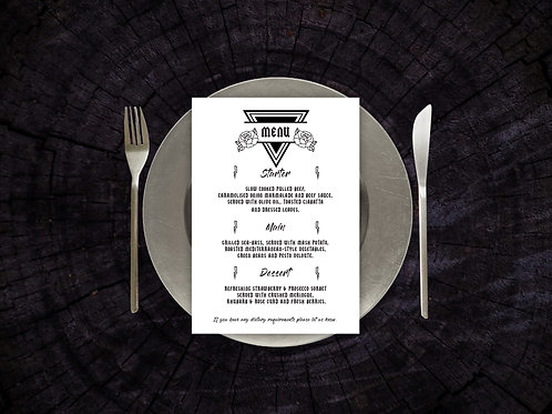 Until Death Menu