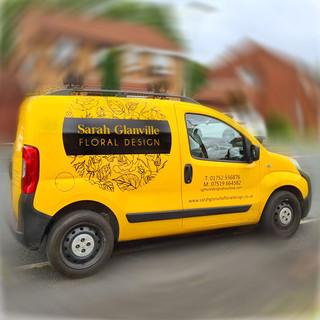 Sarah Glanville One Colour Logo On Van