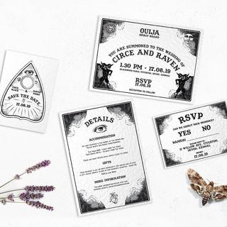 Ouija Board Invite Set