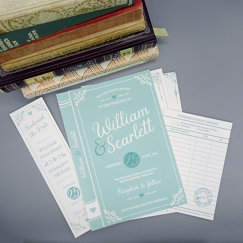 Book Cover Wedding Set