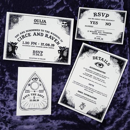 Ouija Board Wedding Set