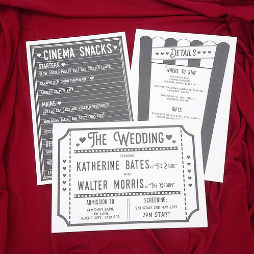Movie Cinema Wedding Set