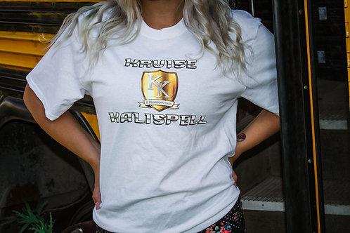 KRUISE KALISPELL T-SHIRT - WHITE W/GOLD SHIELD