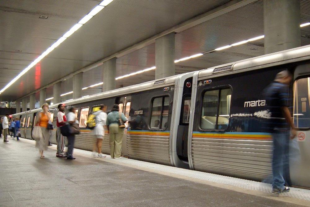 MARTA Train At North Avenue Station September 2005
