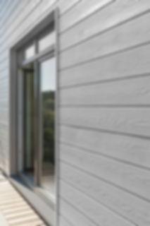 фиброцементные панели, большие окна