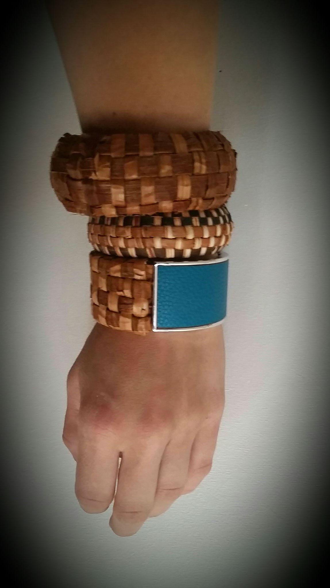 cedar woven cuffs