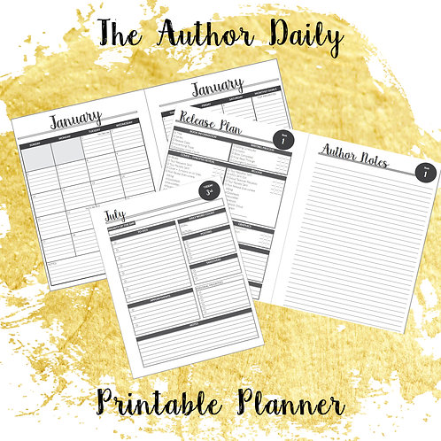 The Author Daily Printable Planner