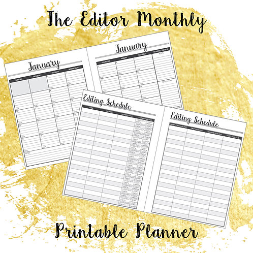 The Editor Monthly Printable Planner