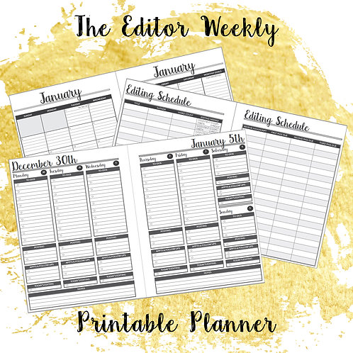 The Editor Weekly Printable Planner