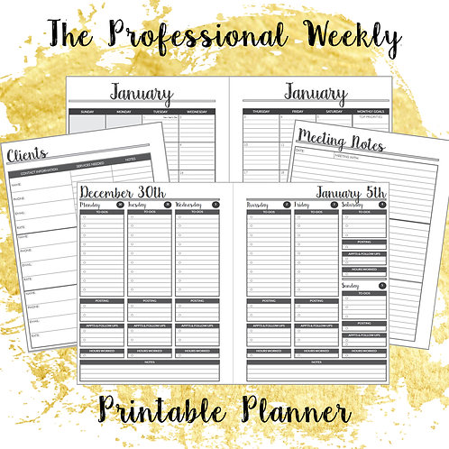 The Professional Weekly Printable Planner