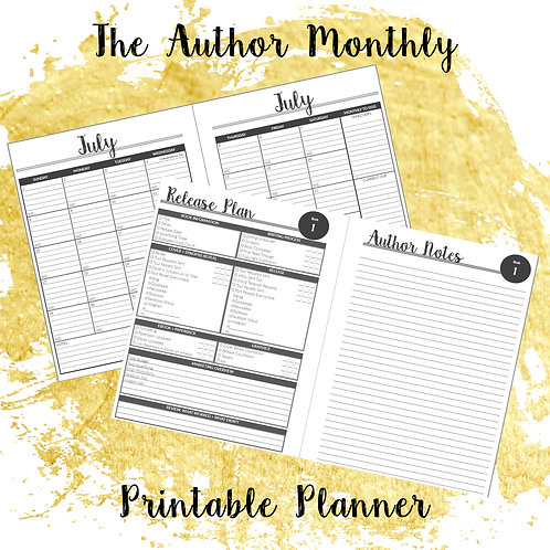 The Author Monthly Printable Planner