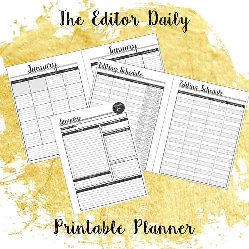 The Editor Daily Printable Planner