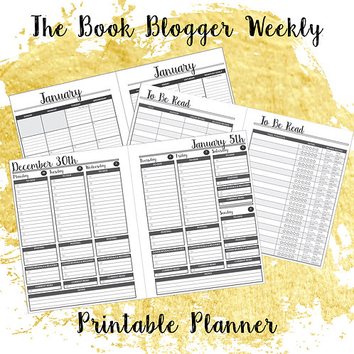 The Book Blogger Weekly Printable Planner