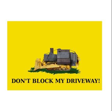 34 Don't Block My Driveway Tapestry.jpg