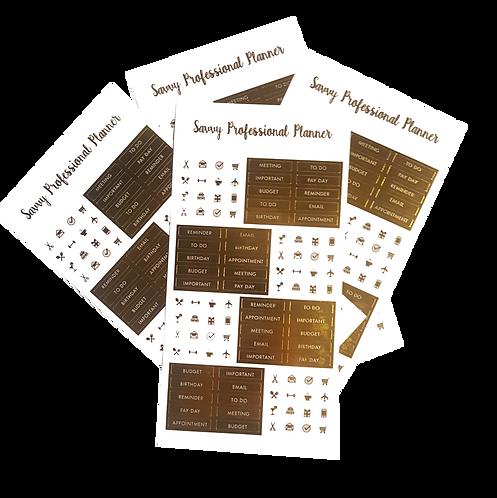 Gold Foil Sticker Pack