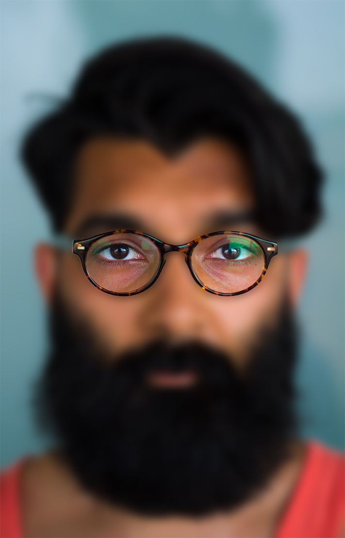 Beard and glasses
