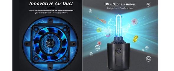 _エアダクト設計 ファンはバクテリア、ウイルス、悪臭を継続的に吸い込み、マイナス