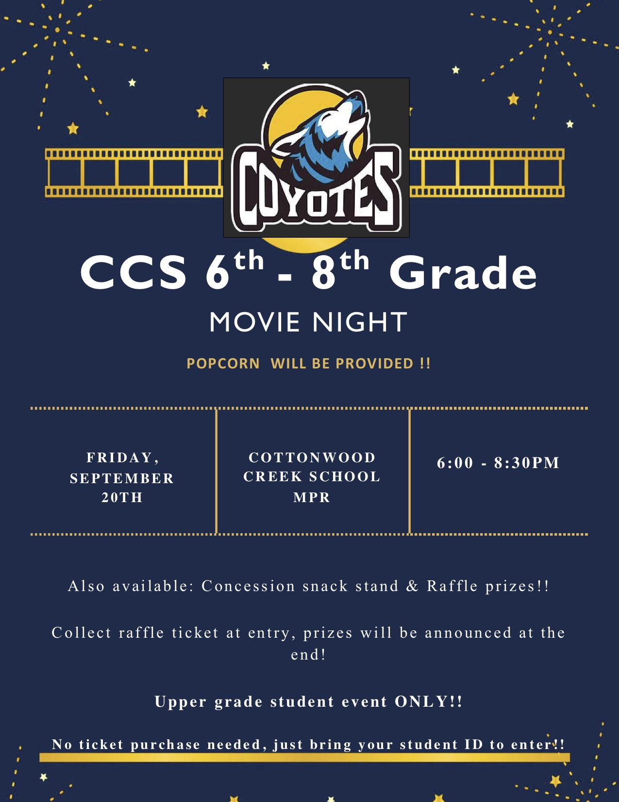 Upper Grade Movie Night