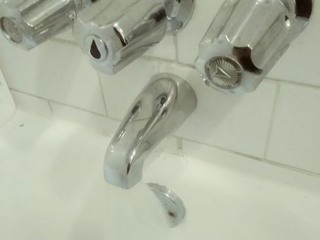 Replacing leaky bathroom faucet.