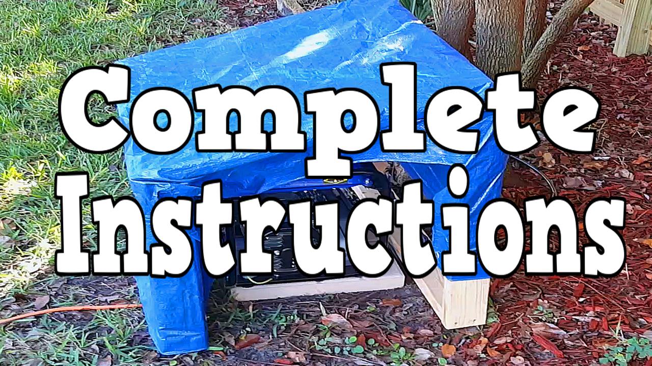 DIY Generator Cover