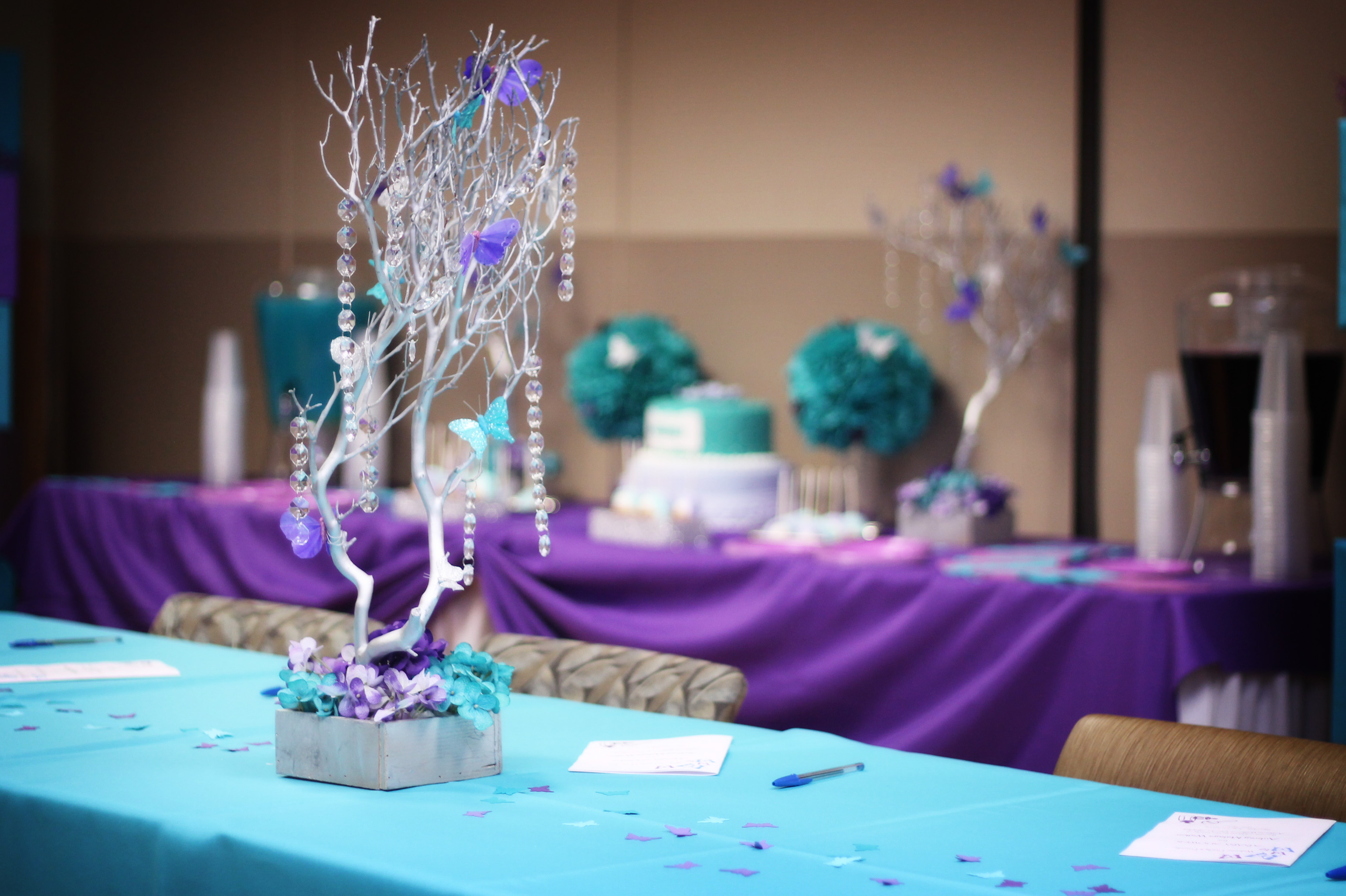 Turquoise & Purple Baby Shower