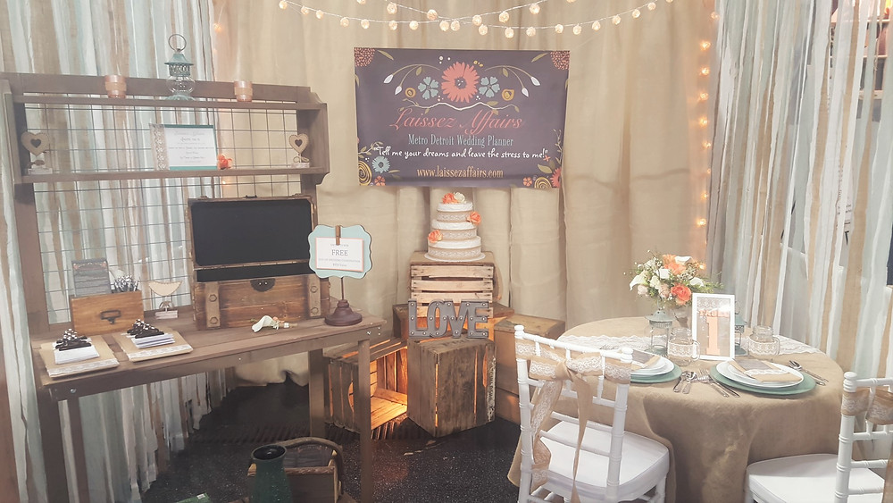 Rustic Bridal Show Booth