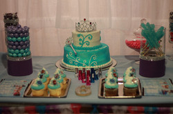 Frozen Birthday Cake Table