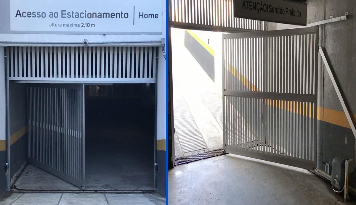 Portão Automático Deslizante em L