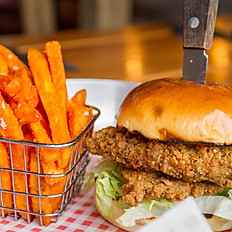 southern fried burger