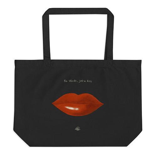 kiss & tears Grand tote bag coton bio - double face