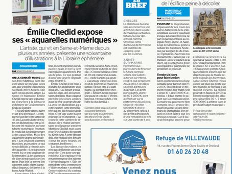ARTICLE PARISIEN EXPO LIBRAIRIE EPHEMERE