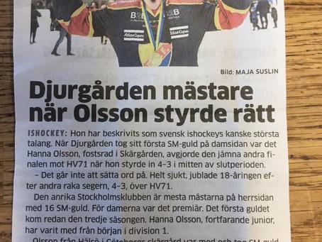 SM Guld till Hanna & DIF