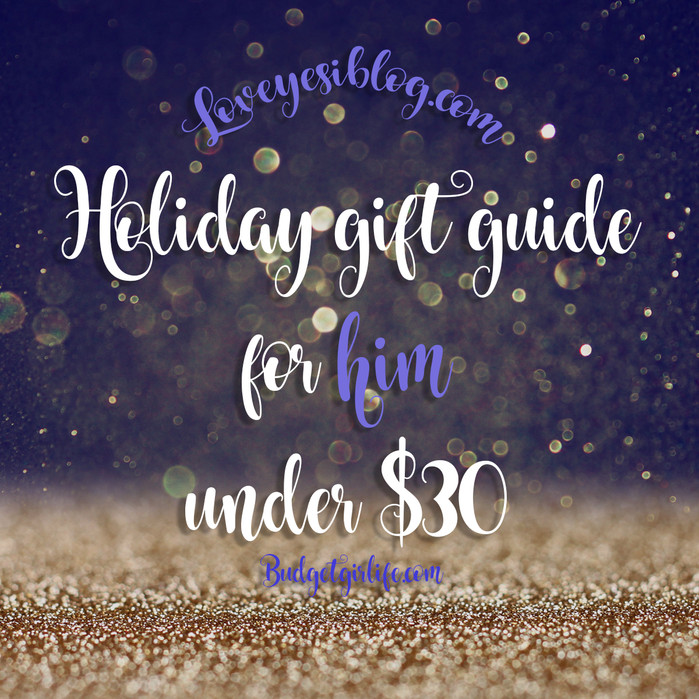 Holiday Gift Guide: For Him! Under $100 (guest blogger)