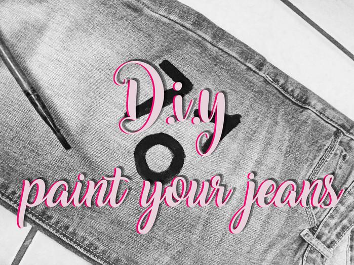 DIY paint your jeans