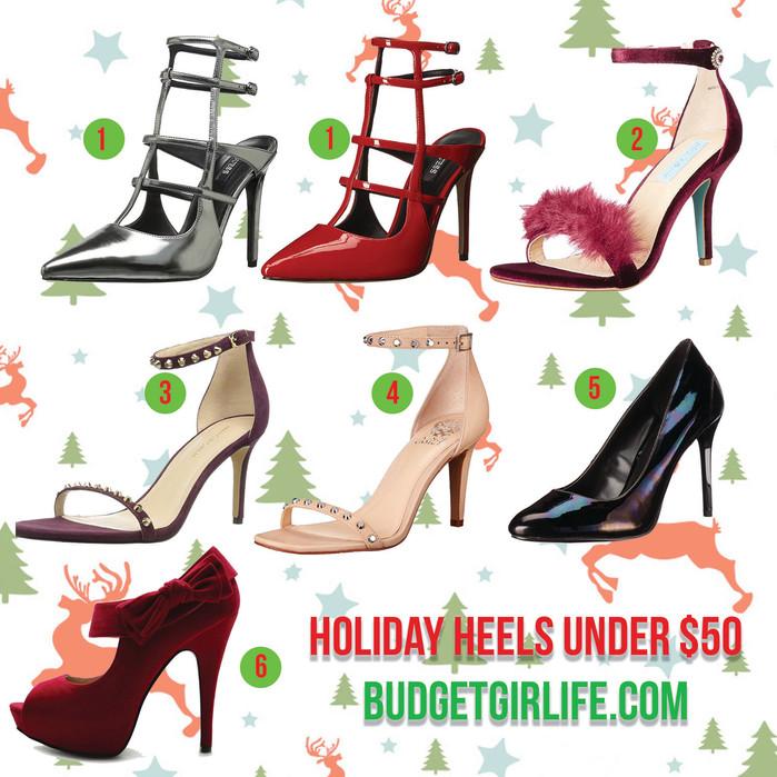 Holiday heels under $50