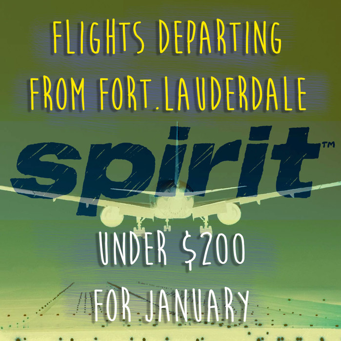 JANUARY flights under $200/ departing from FORT.LAUD