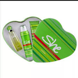 she is sexy deo + gift set bag 3 pcsl