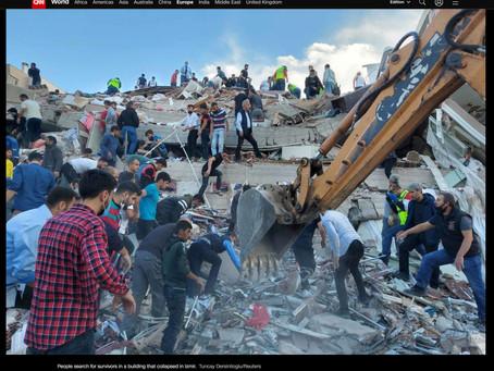 İzmir Depremi Fotoğrafları Uluslararası Basında